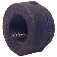 Black Pipe Fitting, Cap, 1/4-In.