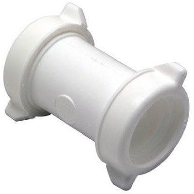 Lavatory/Kitchen Drain Coupling, White Plastic, 2-In.