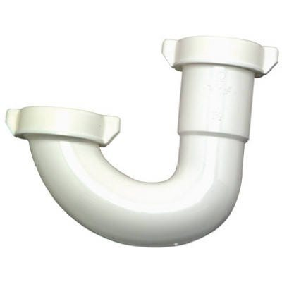 Lavatory/Kitchen Drain J Bend, White Plastic, 1.25-In. Or 1.5-In. O.D.