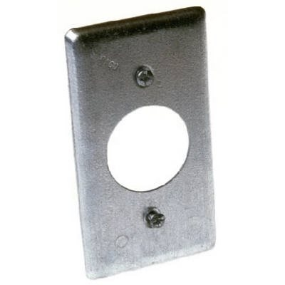 Image of Single Receptacle Steel Handy Box Cover