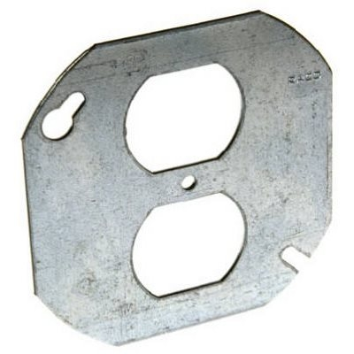 Image of 4-Inch Duplex Receptacle Octagon Cover