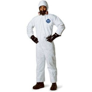 Zip-Front Coverall, Hooded, White, 25-Pk., XXXL