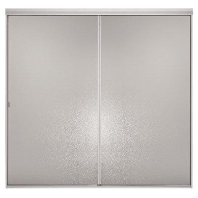Sliding Bypass Shower Door, Silver Frame/Hammered, 65 x 42 to 48-In.