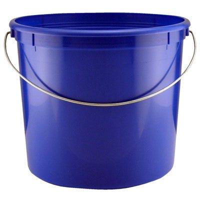 Plastic Pail, Blue, 5-Qts.