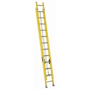 24-Ft. Extension Ladder, Fiberglass, Type I, 250-Lb. Duty Rating