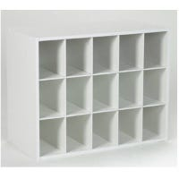 15-Cube White Laminated Organizer, 19.3 x 24 x 12-In.