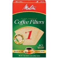 40-Pack #1 Natural Brown Cone Coffee Filters