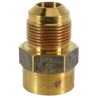 Gas Pipe Fitting, Brass, 15/16 OD x 3/4-In. FPT