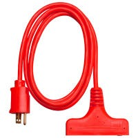 6-Ft. 14/3 SJTW Red 3-Outlet Extension Cord