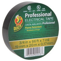 Professional Electrical Tape, Black, 3/4-In. x 66-Ft.