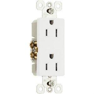 Decor Outlet 15A 125V 2P 3W White