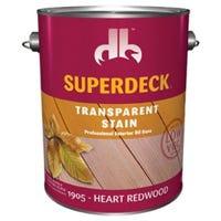 Exterior Transparent Oil Stain/Sealer, Low VOC, Heat Redwood, 1-Gallon