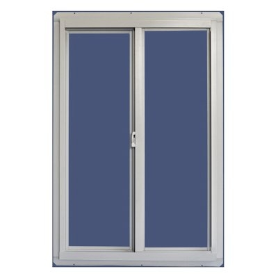Image of Horizontal Slider Window With Screen, White Aluminum, 3 x 2-Ft.