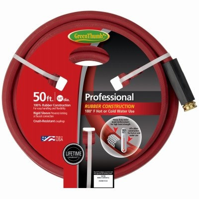 Image of 5/8-Inch x 50-Ft. Red Industrial Hot Water Rubber Hose