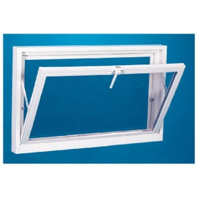 Image of Basement Window With Screen, White Vinyl, 32-3/16 x 14-In.