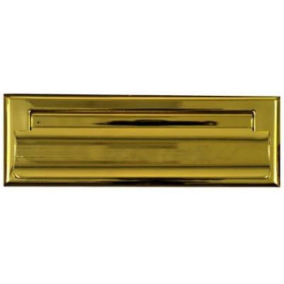 Mail Slot, Polished Brass, 1.5 x 7-In.