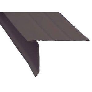 Roof Drip Edge, Brown Aluminum, 10-Ft.