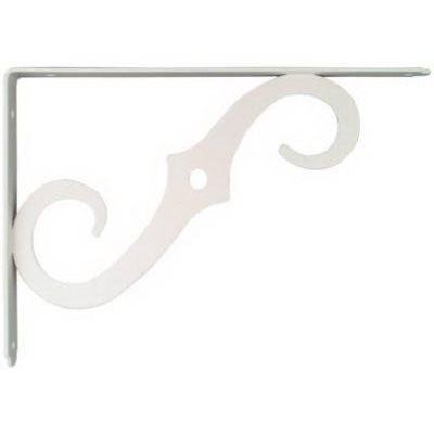 Image of 10 x 7-In. Antique White Ornamental Shelf Bracket