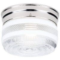 6-3/4-Inch Chrome Ceiling Fixture