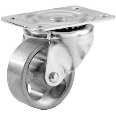 Image of 2-Inch Steel Wheel Swivel Plate Caster