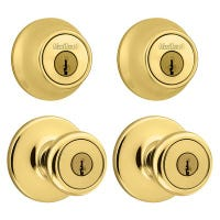 Security Combination Lockset, Brass