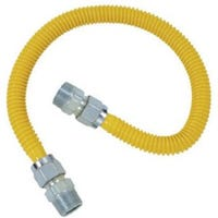 Flexible Gas Connector, Pro-Coat Stainless-Steel, 36-In.