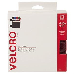 Velcro Sticky Back Tape, Red, 3/4-In. x 15-Ft.