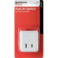 15A White Plug In Cord Switch