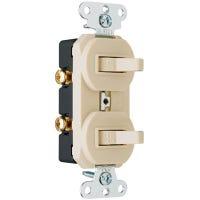 Ivory 2-Single-Pole Combo Switch