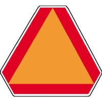 """Safety Emblem, """"Slow Moving Vehicle"""", High-Visibility Aluminum, 16 x 14-In."""