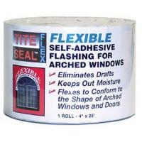 Flexible Flashing, Window & Door, Self-Adhesive, Waterproof, 4-In. x 25-Ft.