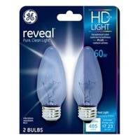 Reveal 60-Watts Clear Decorative Bulbs, 2-Pk.