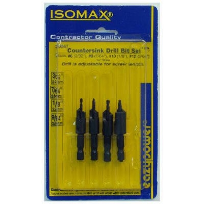 Image of Drill & Countersink Set, 4-Pc.