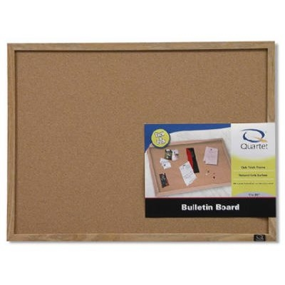Image of Cork Bulletin Board with Wood Frame, 17 x 23-In.