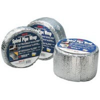 Pipe Wrap Insulation Foil, Standard Edge, 2-In. x 25-Ft.