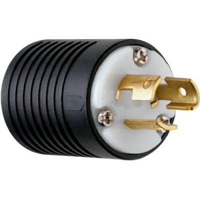 Locking Plug, Black & White, 2-Pole/3-Wire, 15A, 125-Volt