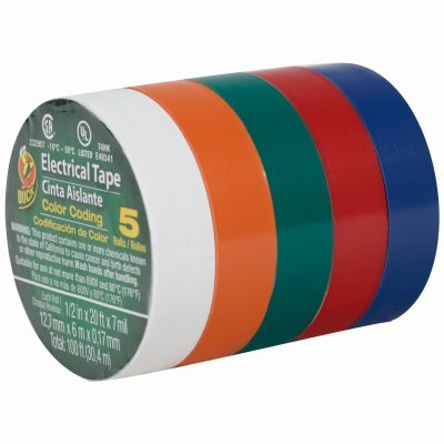 Image of Assorted Vinyl Electrical Tape, 20-Ft. Rolls, 5-Pk.