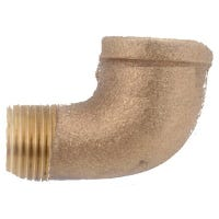 Pipe Fitting, Street Elbow, Rough Brass, 90 Degree, 1/4-In.