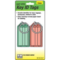 Key Tag With Split Ring, Easy-Open, 2-Pk.