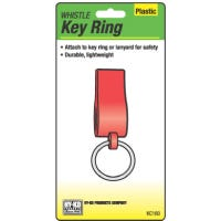 Whistle Key Ring with Split Ring, Plastic
