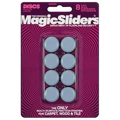 Image of Surface Protectors, Furniture Sliding Discs, Adhesive, 1-In. Round. 8-Pk.