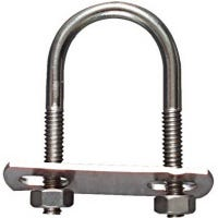 U-Bolt, Stainless Steel, 1/4 x 1-1/8 x 2.25-In.