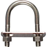U-Bolt, Stainless Steel, 5/16 x 1-3/8 x 2.5-In,