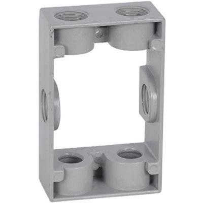 Gray Rectangular Box Extension, 1-Gang