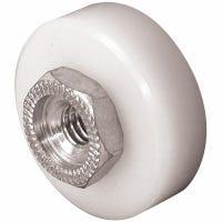 Sliding Screen Door Roller, 3/4-In. Flat Nylon Wheel , 2-Pk.