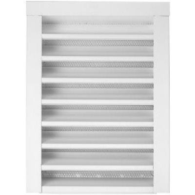 14 x 24-In. Galvanized Steel Gable Louver Vent, Front Flange, White