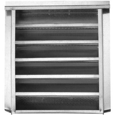 14 x 18-In. Galvanized Steel Gable Louver Vent, Stucco Flange