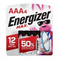 MAX Alkaline Batteries, AAA, 4-Pk.