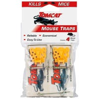 4-Pack Deluxe Wooden Mouse Traps