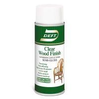Clear Semi-Gloss Wood Finish, Water-Based, 11.25-oz. Aerosol